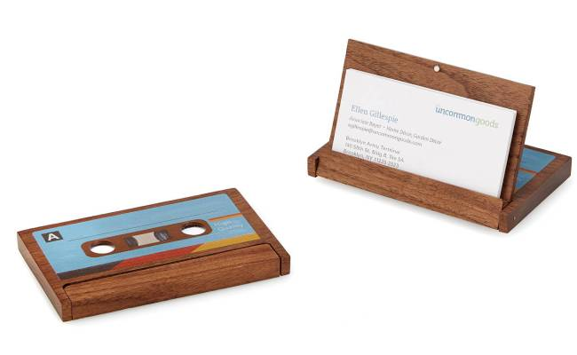 Cassette Business Card Case Cassette Tape Wooden Card