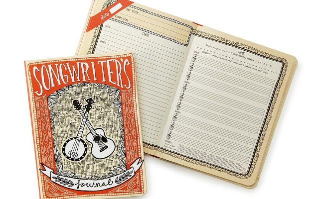 Songwriter S Journal Music Gifts Uncommongoods