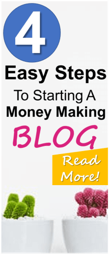 Check out the 4 easy steps to starting your own wordpress blog that actually makes money! Love this article it is VERY helpful and walks you through setting up a blog to make money, step-by-step!