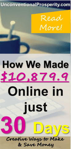 How we made $10,879.9 online in December 2017! If you want to see the exact ways that we made this extra money online, be sure to check out the article! Must read as we share some of our top secrets for making money online!