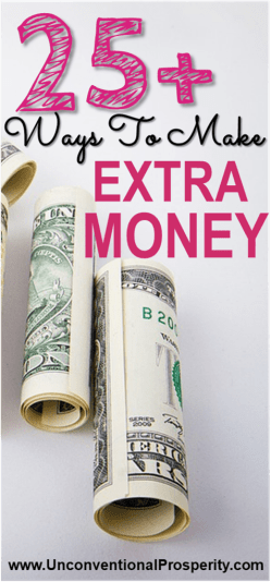 25+ Ways to make money online! Everything from paid surveys to starting a blog! If you are looking for some extra money fast, then this article is a must read.