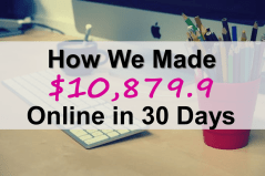 How We Made $10,879.9 Online in 30 Days!