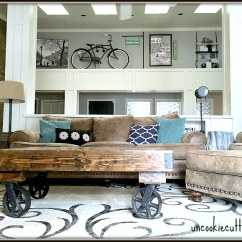 Rustic Industrial Living Room Ethan Allen Chairs Before And After Uncookie Cutter Uncookiecutter Com