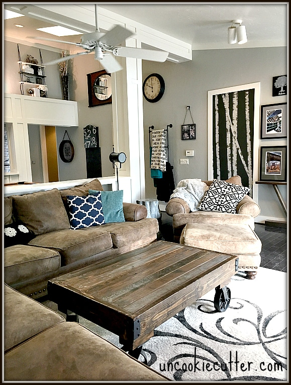 rustic industrial living room wall mounted tv unit designs for before and after uncookie cutter uncookiecutter com