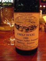 Fritz Haag 1999 Brauneberger Juffer-Sonnenuhr Riesling Auslese - Licence by Puamella