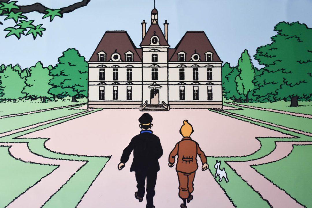 Tintin_chateau_cheverny_Val de Loire_un_couple_en_vadrouille