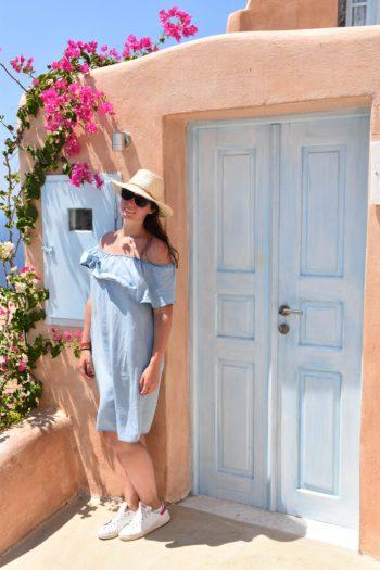 porte colorée Santorin_Oia_un_couple_en_vadrouille-27