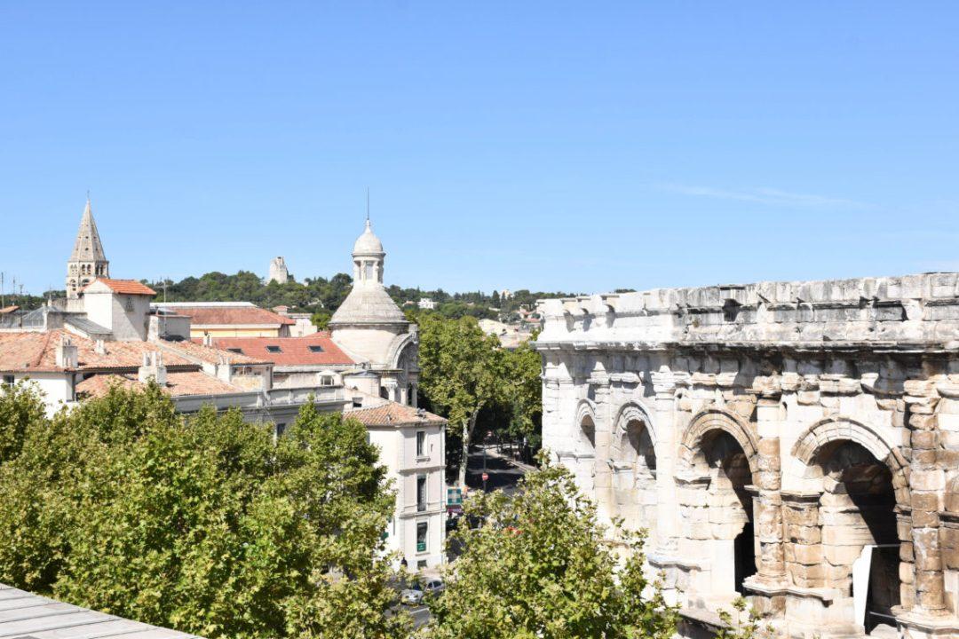 Vue depuis le toit du Musée de la Romanité
