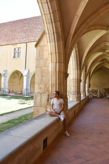 à l'intérieur du monastère du brou