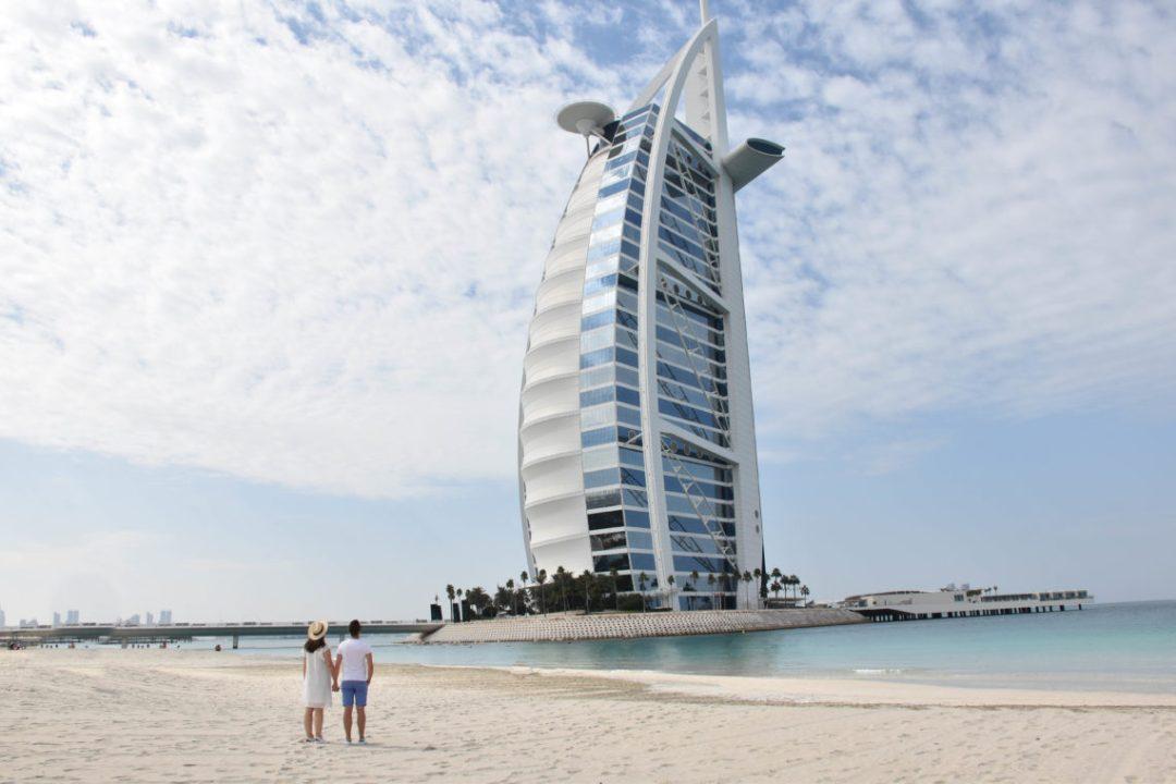 Burj Al Arab par un couple en vadrouille