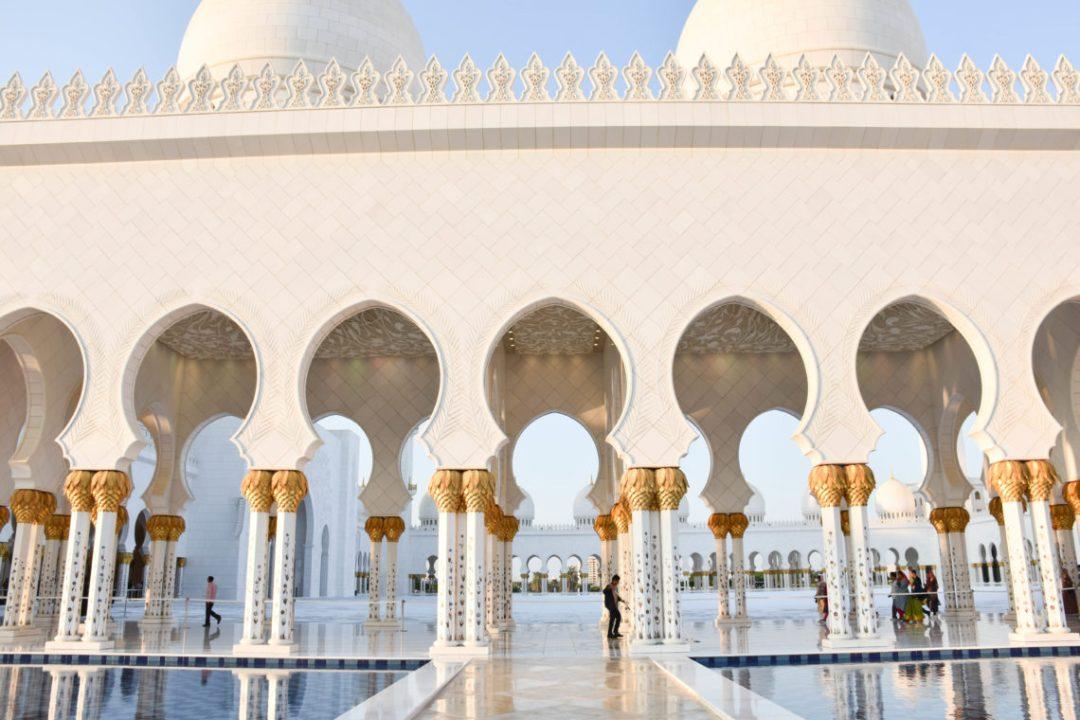 Mosquée Sheikh Zayed non loin de Dubai