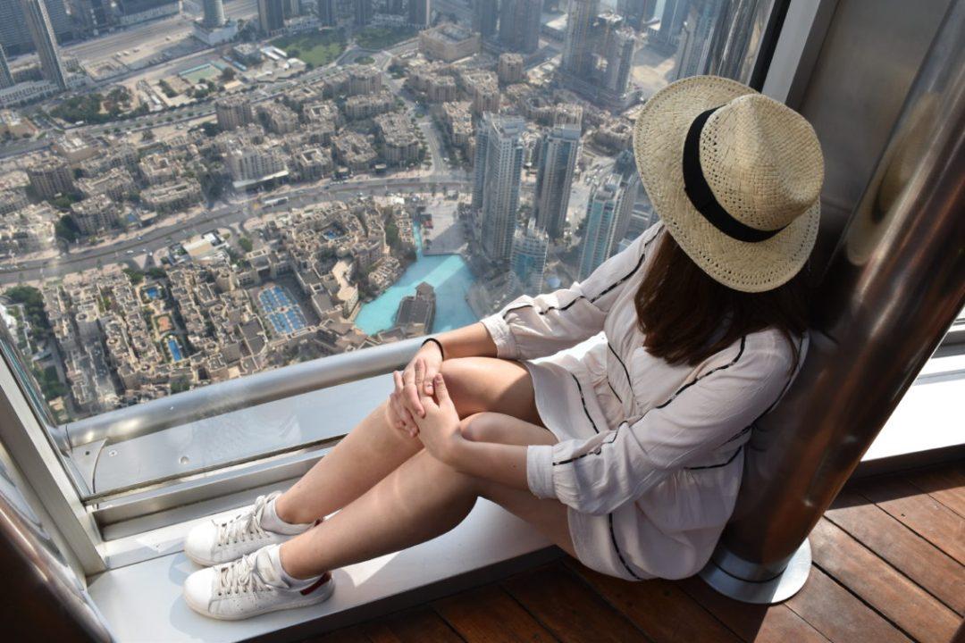 Vue depuis la Burj Al Arab de Dubai