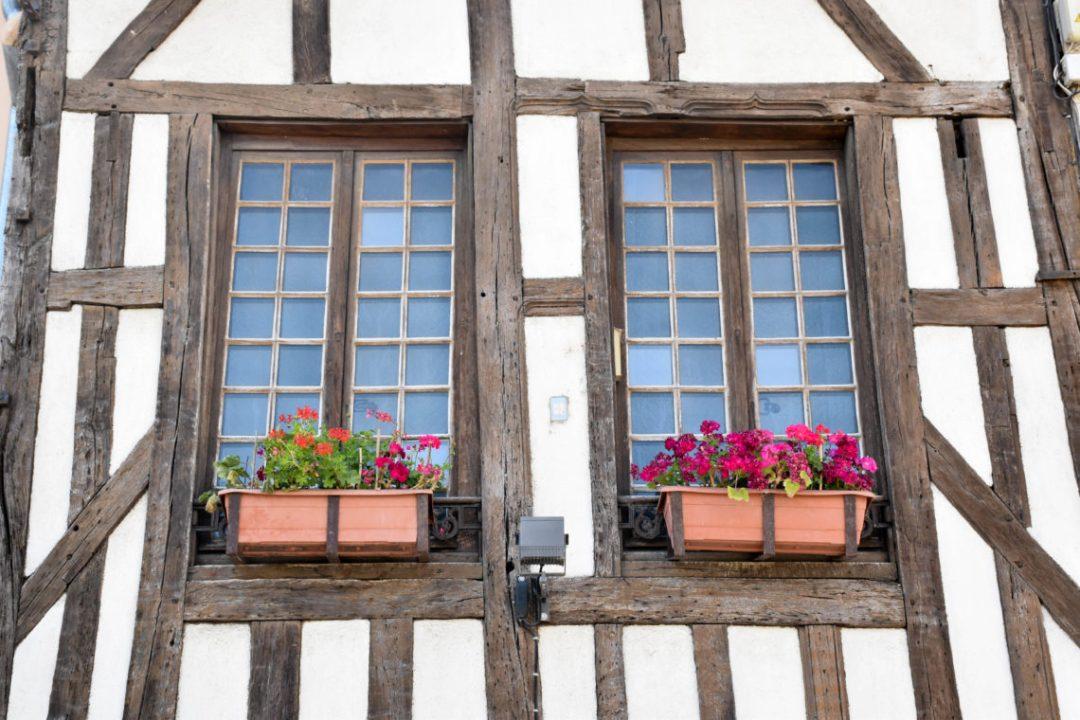 Fenêtres maisons à pans de bois à Troyes