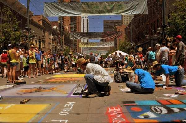 Chalk Art Festival Larimer Square Denver