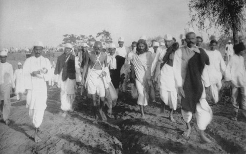 Gandhi was a walking enthusiast