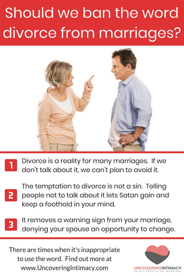 Should we ban the word divorce from marriages?