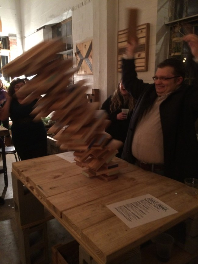 Adult Jenga Premiere Night on Film Row
