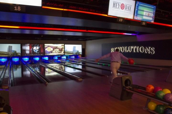 Bowling at HeyDay - photo by Dennis Spielman