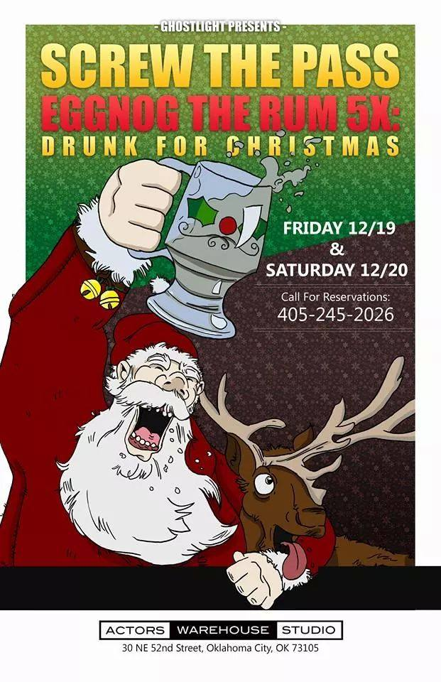 screw the pass eggnog the rum 5x drunk for christmas poster - Drunk Christmas