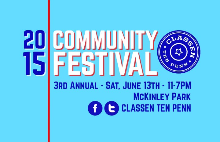 Classen Ten Penn Community Festival Poster