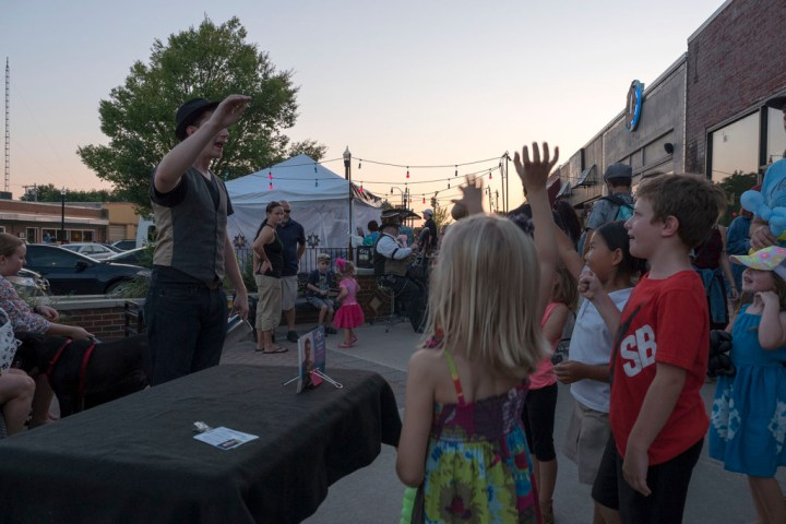 The Magic Joe Show at LIVE on the Plaza - Photo by Dennis Spielman