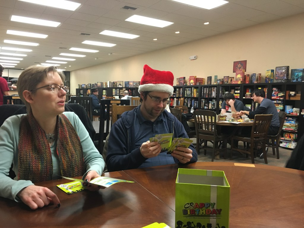 Playing a game at Loot and XP - photo by Dennis Spielman