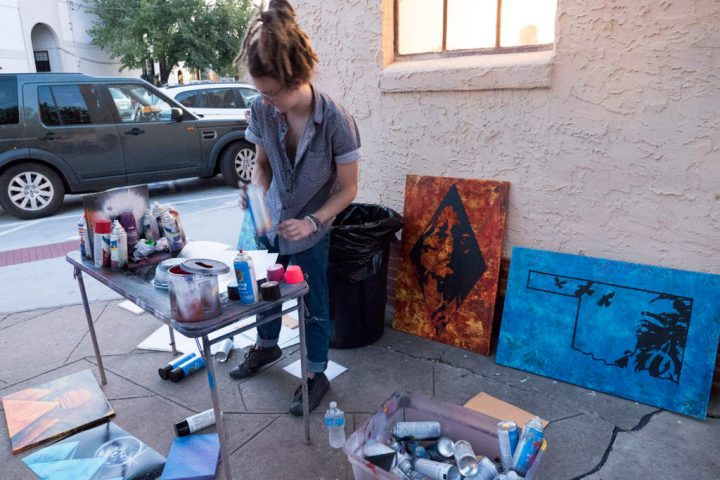 First Friday Gallery Walk at the Paseo - photo by Dennis Spielman