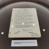 This Land handwritten lyrics at the Woody Guthrie Center - Photo by Dennis Spielman