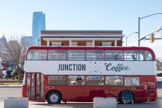 The Bus that is Junction Coffee - photo by Dennis Spielman