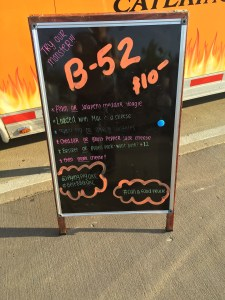 Sign for the B-52 at the Flying Pig BBQ - photo by Dennis Spielman