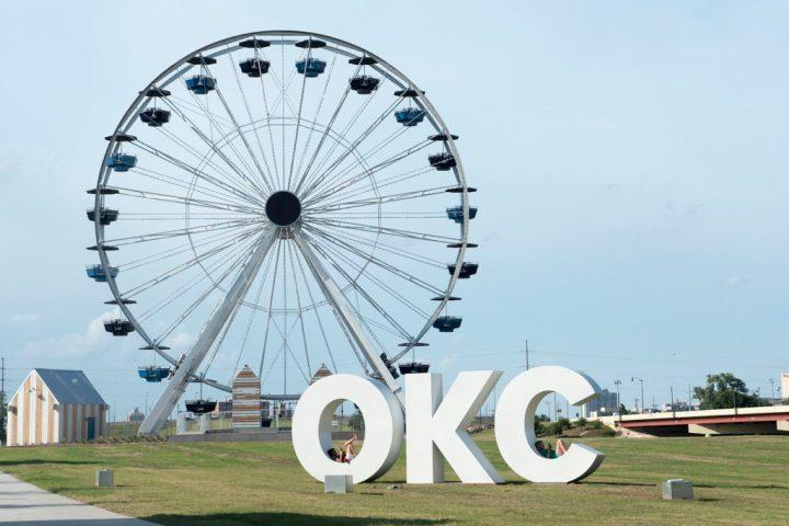 The Ferris Wheel at the Wheeler District during Wheeler Crit