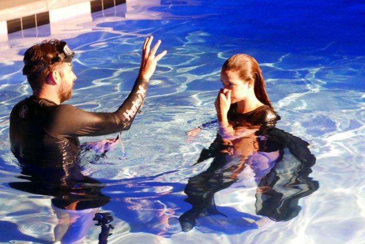 Behind the Scenes photo of CTRL underwater