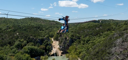 Guests enjoy the Turner Falls Zipline - photo by Dennis Spielman