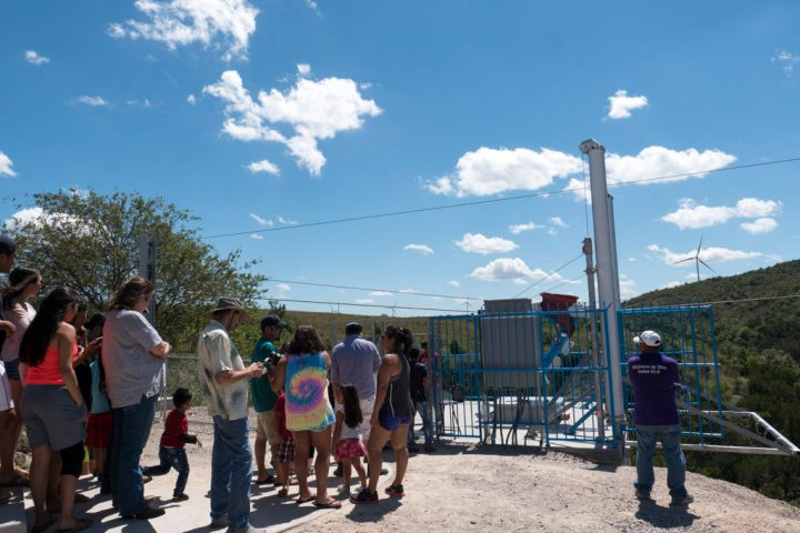 People line up to ride the Turner Falls Zipline - photo by Dennis Spielman