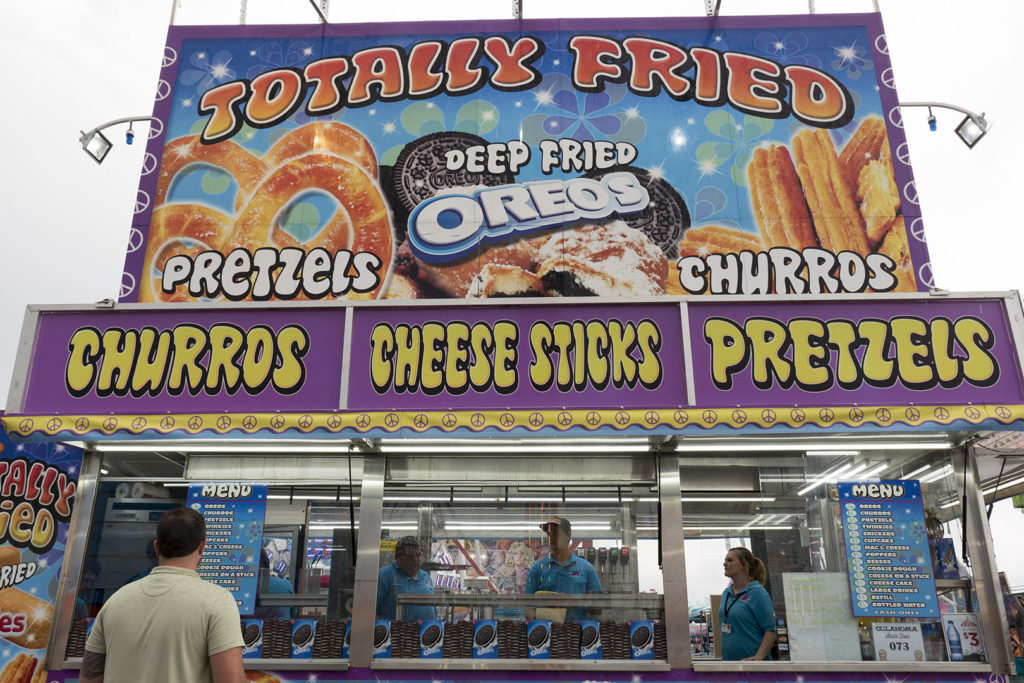 Totally Fried Booth at State Fair