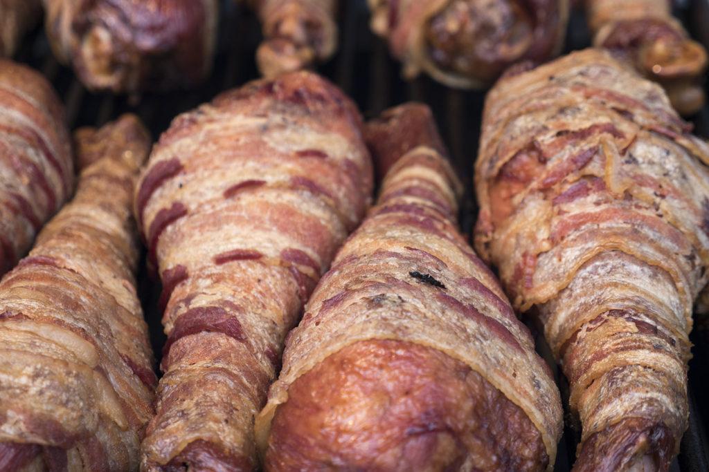 The Bacon Habit's Bacon-Wrapped Turkey Leg