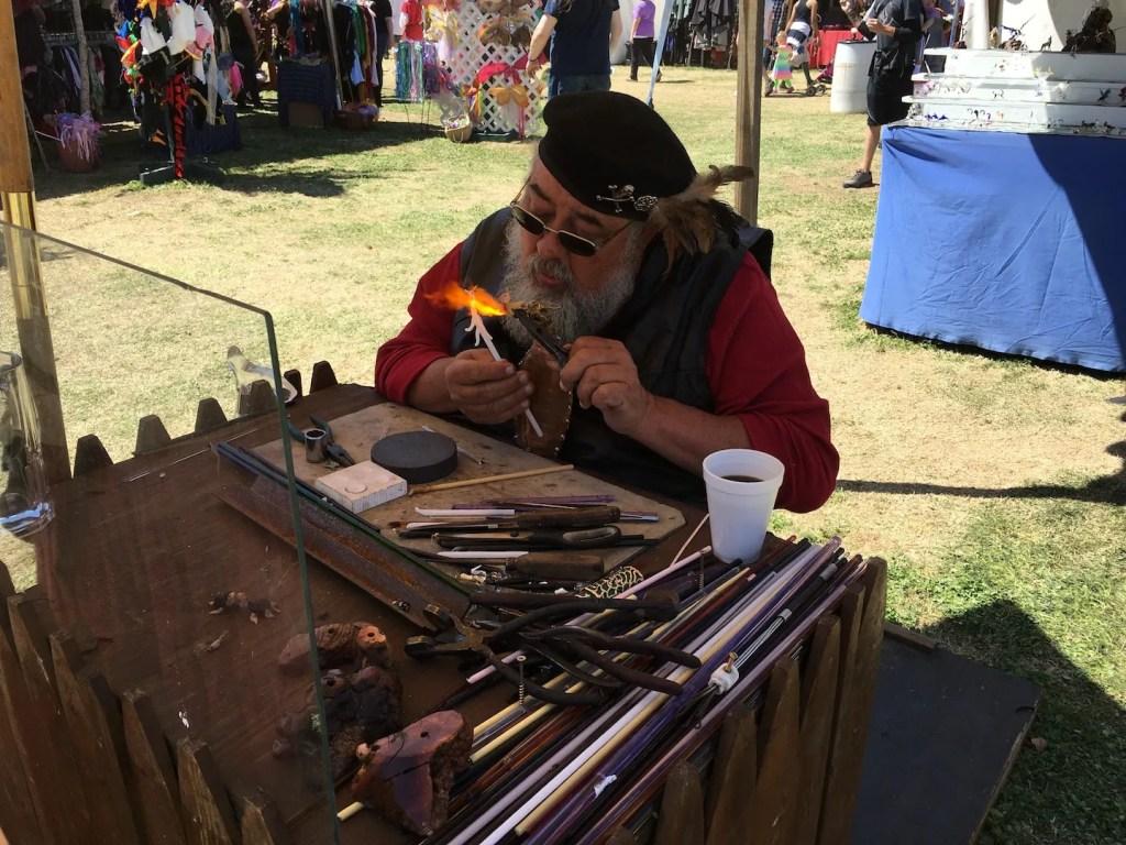 Vendor at the Medieval Fair - photo by Dennis Spielman