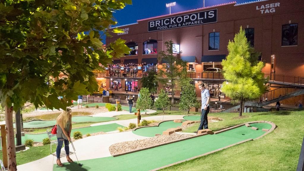 Mini-Golf at Brickopolis - photo by Dennis Spielman