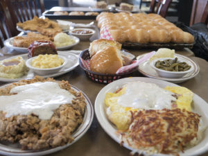 A spread of food from Jimmy's Round-Up Cafe - photo by Dennis Spielman