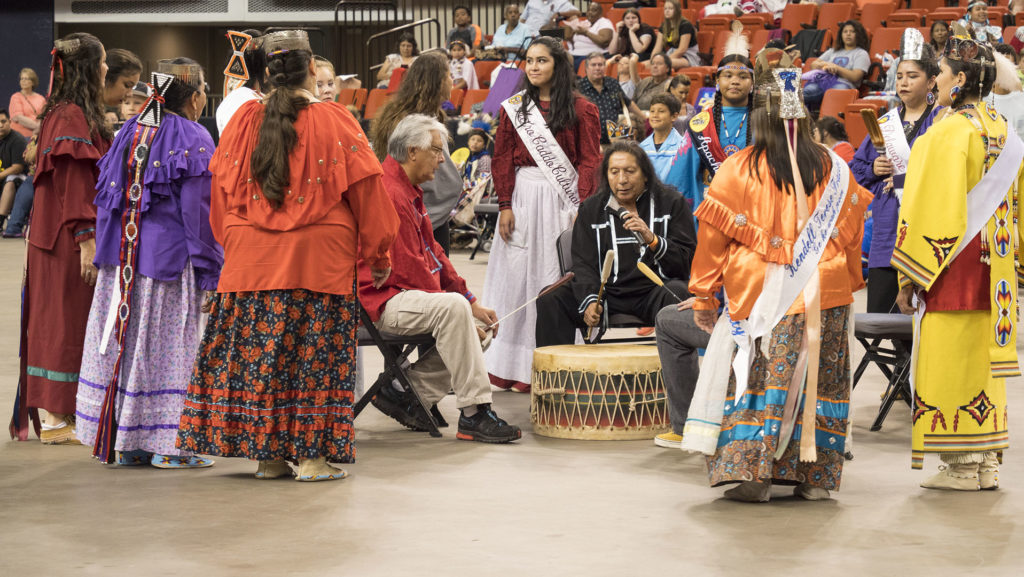 Pow Wow at the Red Earth Festival 2017 - photo by Dennis Spielman