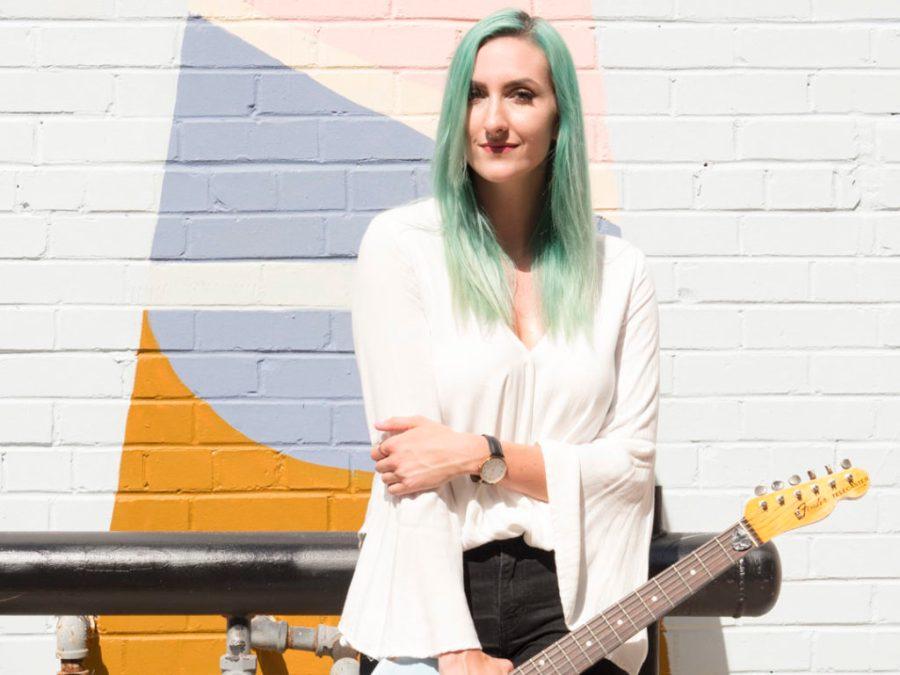 Sophia Massad at the Plaza Walls - photo by Dennis Spielman
