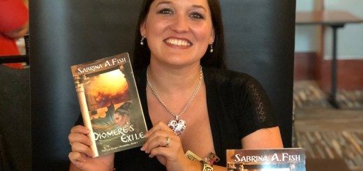 Diomere's Exile by Sabrina Fish at SoonerCon - photo by Dennis Spielman
