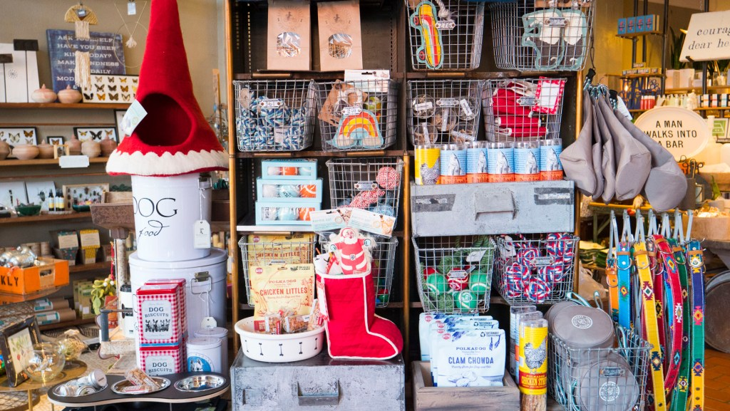 Pet Gifts at Plenty Mercantile - photo by Dennis Spielman