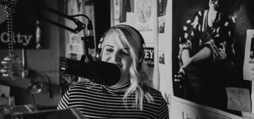 Malory Craft recording podcast