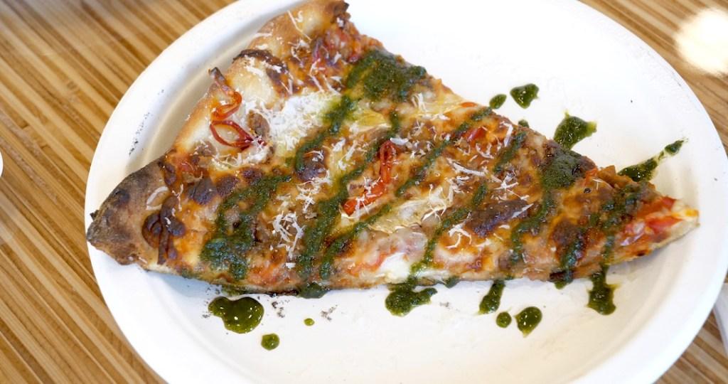Pizza at Banquet Cinema Pub