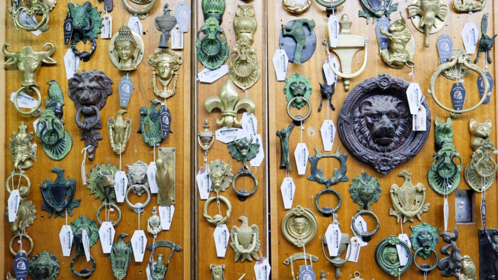 Door Knobs at Dead People's Stuff - photo by Dennis Spielman
