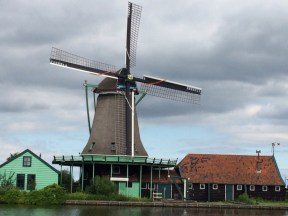 Überall Windmühlen - hier Höhe Zaan