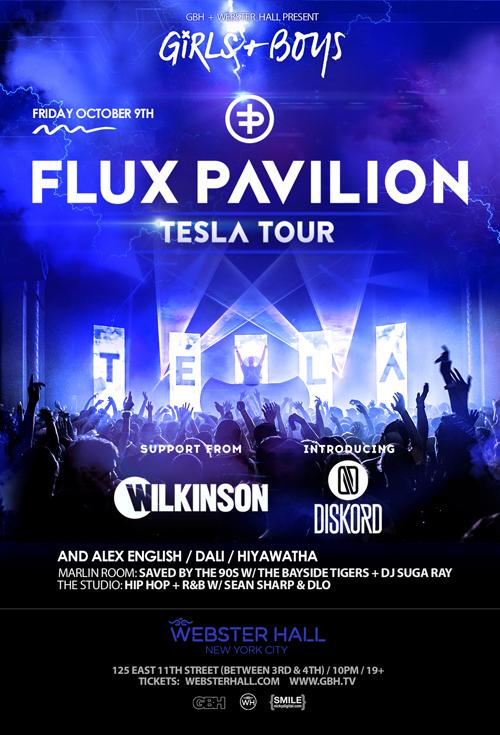 Get Tickets to see Girls & Boys ft Flux Pavilion at Webster Hall 10/9/15