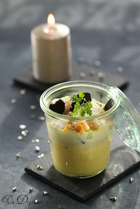 Turbot poisson polenta truffe noire recette