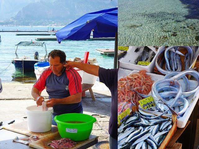 Sicile voyage image Mondello pêcheur poissonnier mer